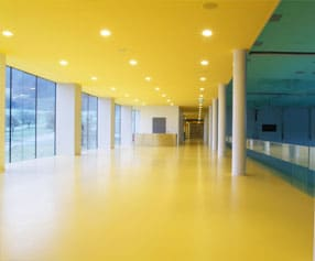 yellow floor coating