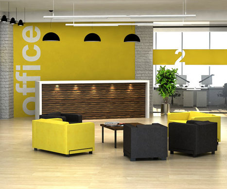 yellow painted office