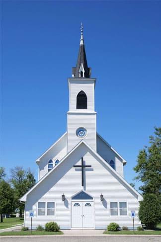 white catholic churche
